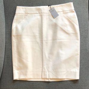 J. Crew Pencil Skirt, 8P, Ivory